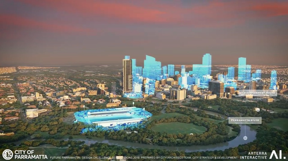 Fly over – what future Parramatta looks like